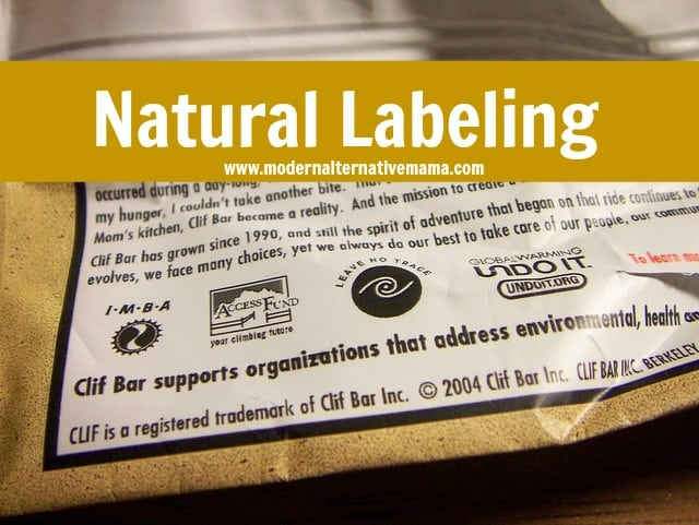 """natural"" on labels"