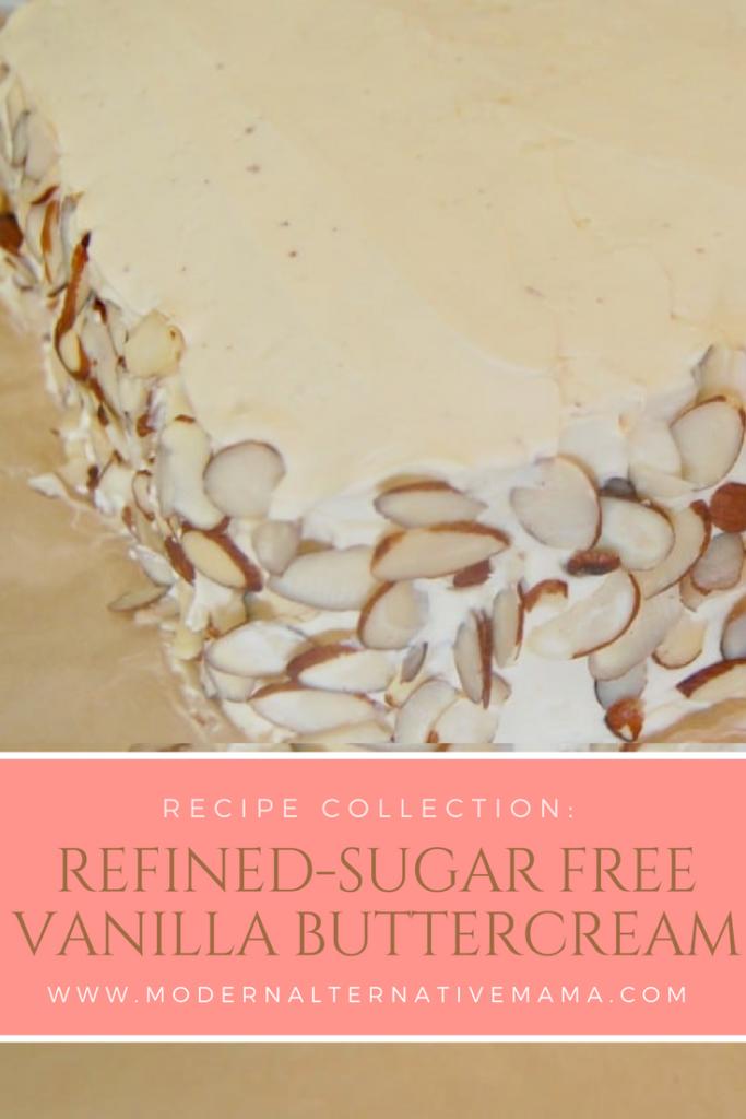 Refined-Sugar Free Vanilla Buttercream