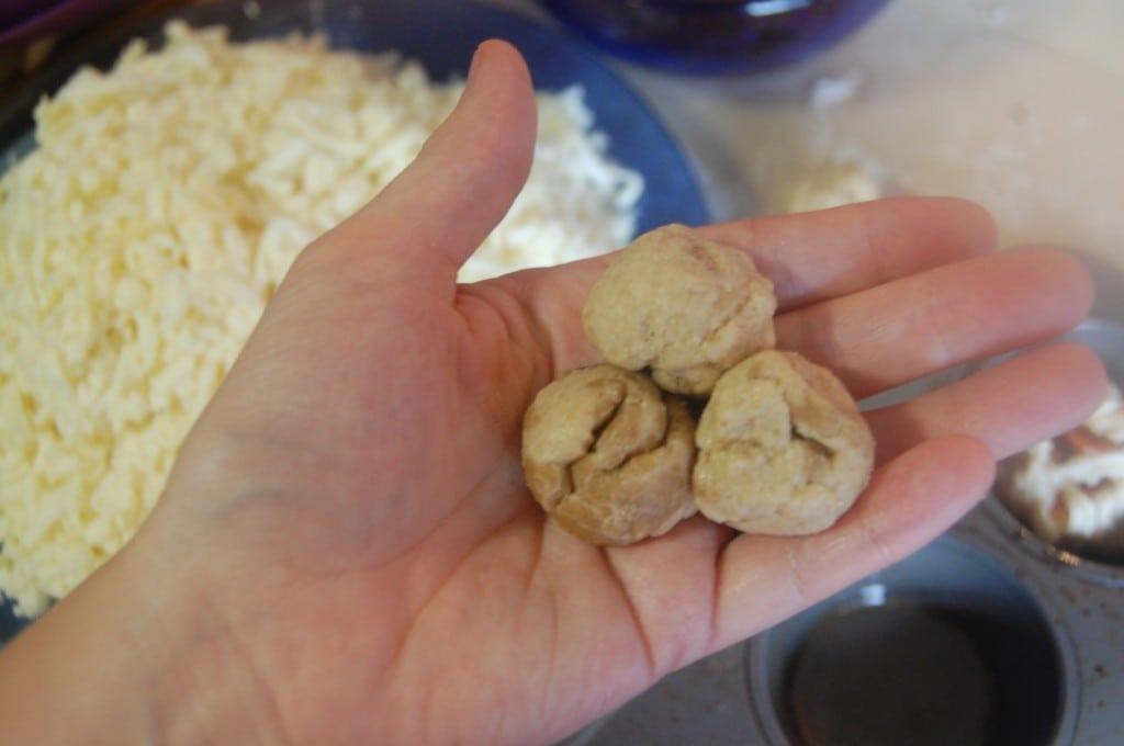 dough balls in hand