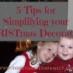 Top 5 Tips For Simplifying Your CHRISTmas Decorations
