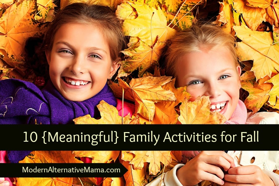 10 {Meaningful} Family Activities for Fall
