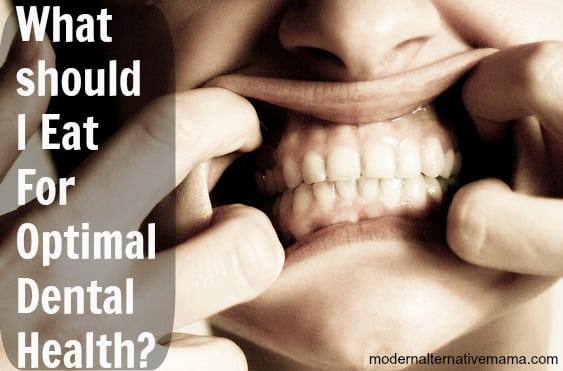 what should i eat for dental health