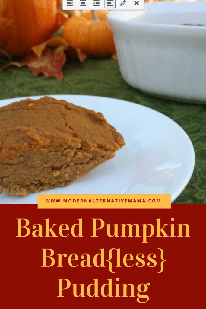 Baked Pumpkin Bread{less} Pudding