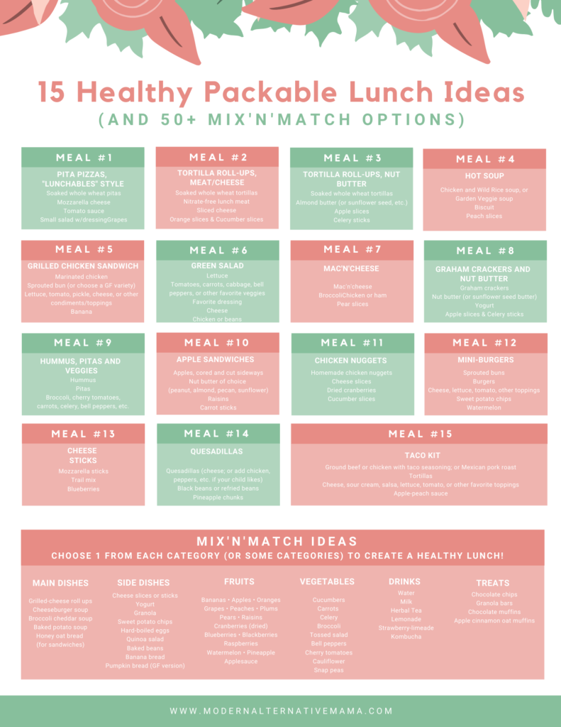 15 Healthy Packable Lunch Ideas