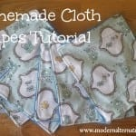 Homemade Cloth Wipes Tutorial