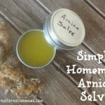 Simple Homemade Arnica Salve