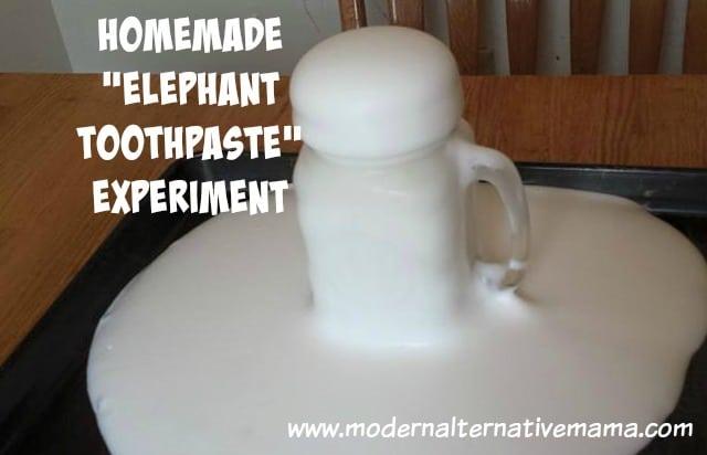 how to make homemade elephant toothpaste