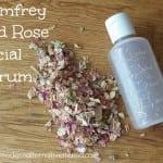 comfrey and rose facial serum
