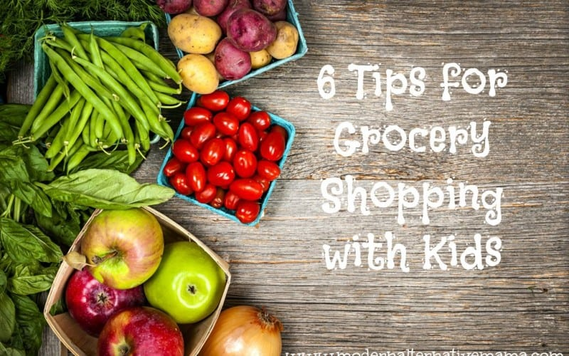6 Tips for Grocery Shopping with Kids