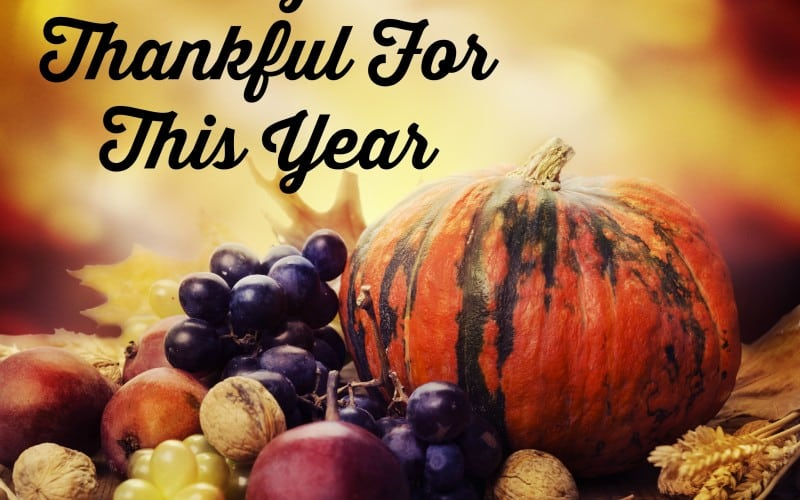 25 Things I'm Thankful For This Year