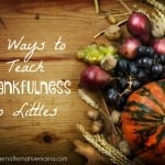 teach thankfulness