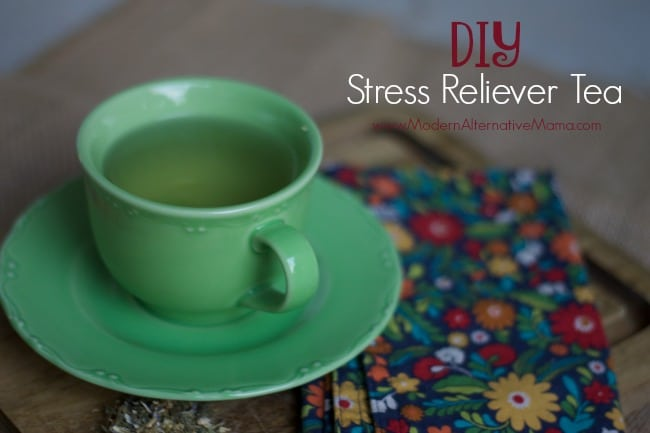 DIY Stress Reliever Tea -www.modernalternativemama.com