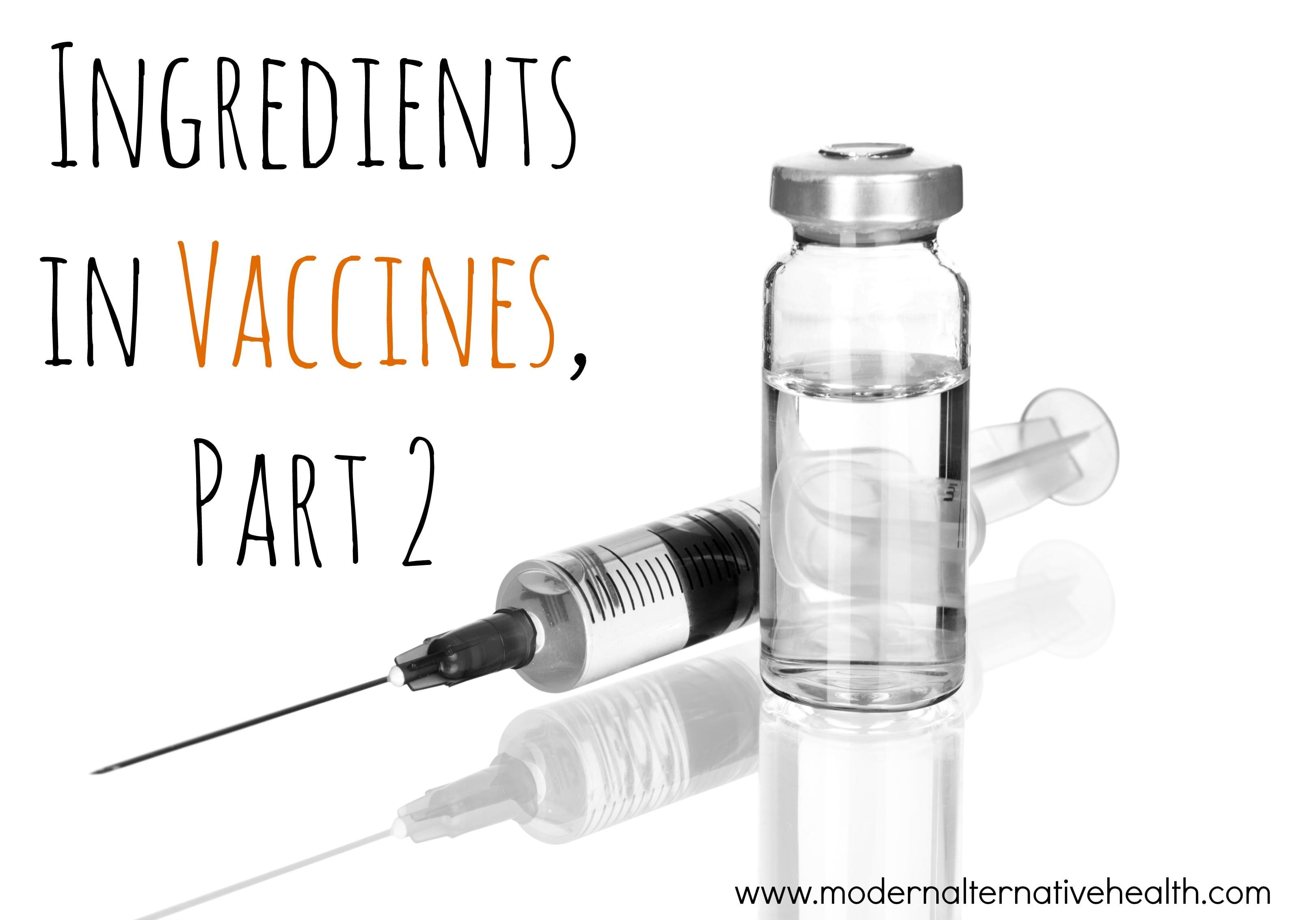 Ingredients in Vaccines, Part 2