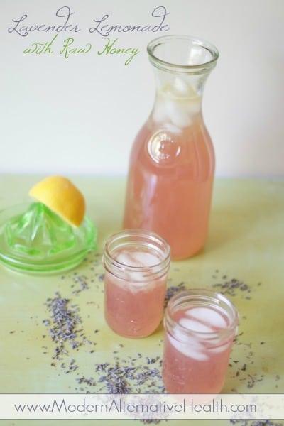 Lavender Lemonade with Raw Honey