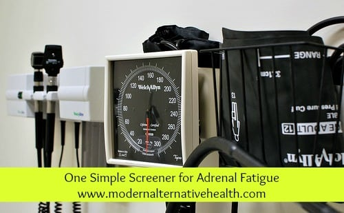 One Simple Screener for Adrenal Fatigue