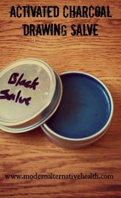 Activated Charcoal Drawing Salve