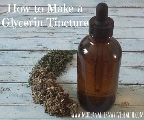 how to make a glycerin tincture