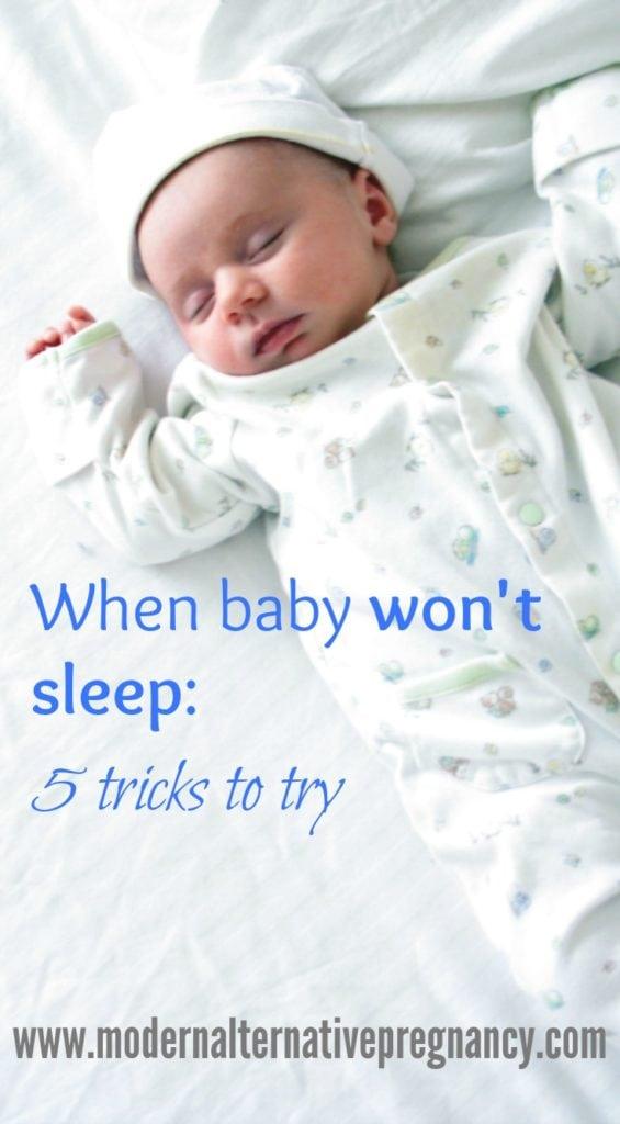 when baby won't sleep vertical
