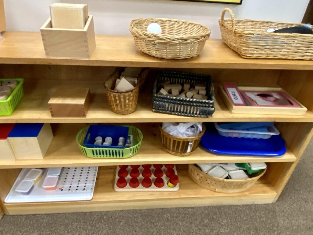 Various Montessori wooden toys