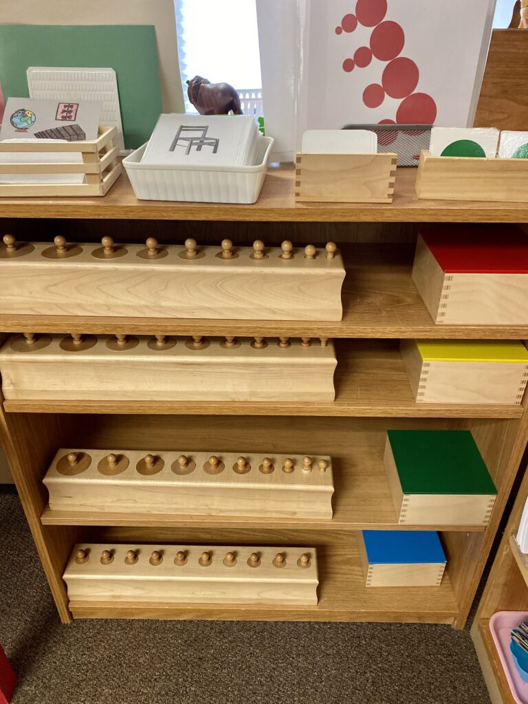 Various Montessori wooden toys